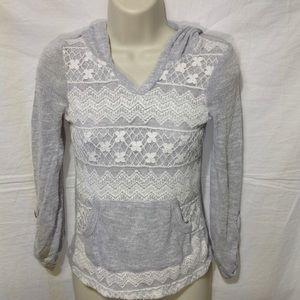 Girl's XL MISSCHIEVOUS lightweight sweater w hood